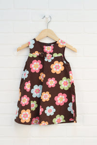 Brown Floral Sundress (Size 2T)