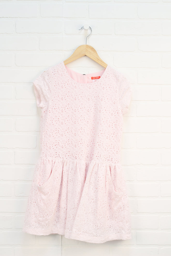 Blush Lace Overlay Dress (Size XL/14)