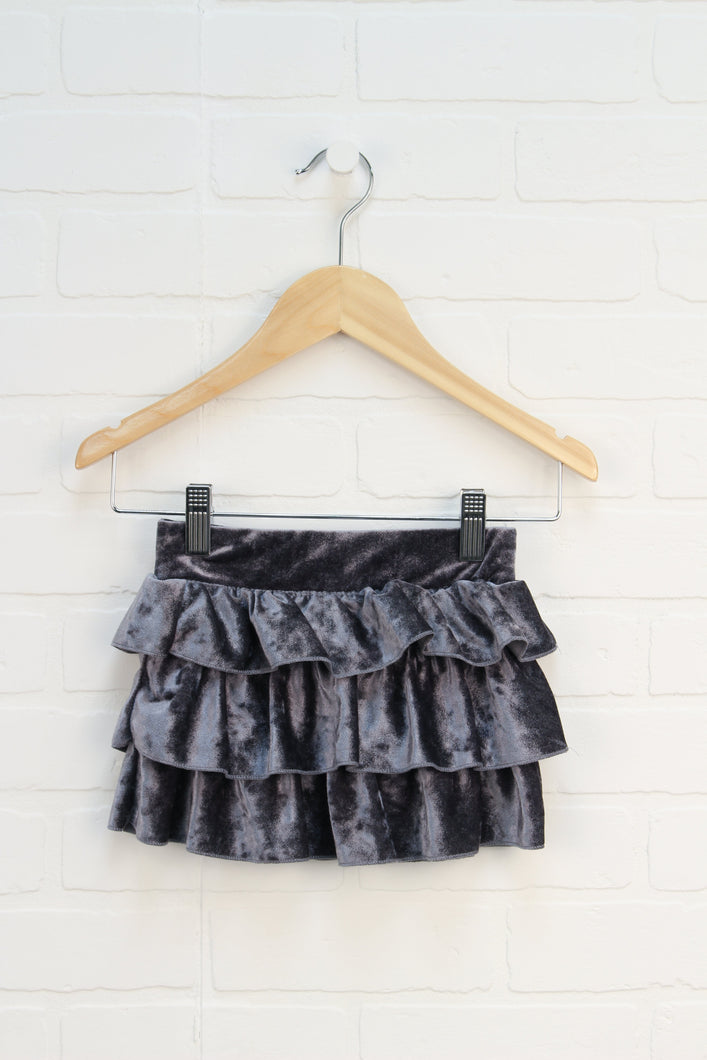 Silver Velour Skirt (Size 2-3)