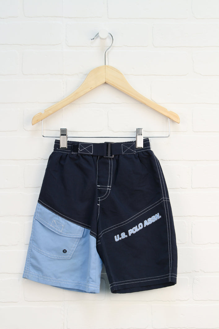 Navy + LIght Blue Swim Trunks (Size 2T)