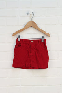 Red Corduroy Skirt (Size 2T)