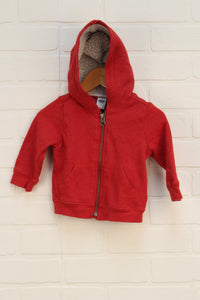 Heathered Red Hoodie (Size 6-12M)