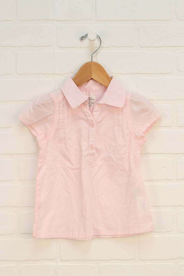 Blush Cap Sleeve Blouse (Size 12-18M)