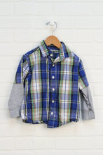 Blue + Yellow Plaid Button-Up (Size 3)