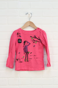 Hot Pink Graphic Top (Size 4)