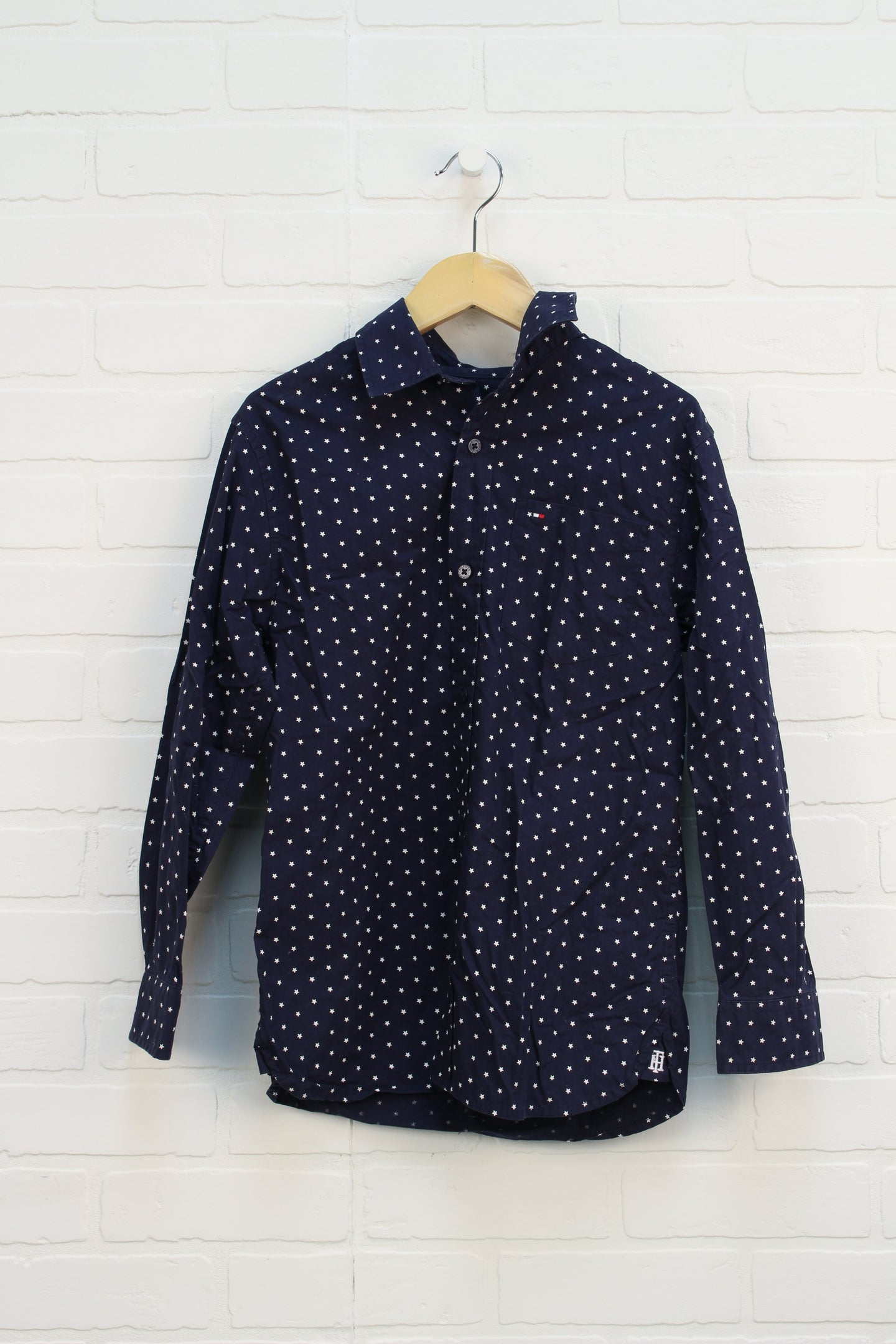 Navy Star Button-Up (Size M/8-10)