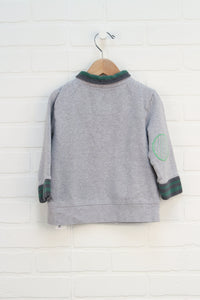 Heathered Grey Graphic Pullover (Size 3)