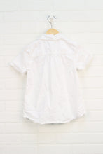 White Peter Pan Collar Shirt (Size 10)
