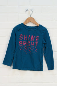 Teal Sparkle T-Shirt (Size 5)