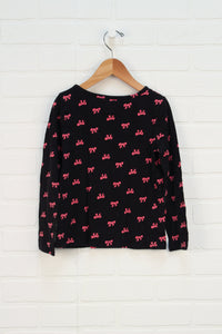 Black + Hot Pink Top (Size S/5-6)