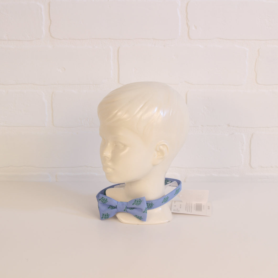 Janie and Jack Blue & Green Turtle Print Bowtie (One Size Fits Baby) NWT