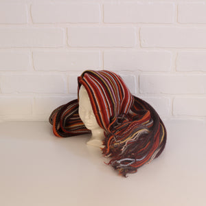 Roots Fall Colours Hat + Scarf Set (one size fits 10-14) 2 Pieces