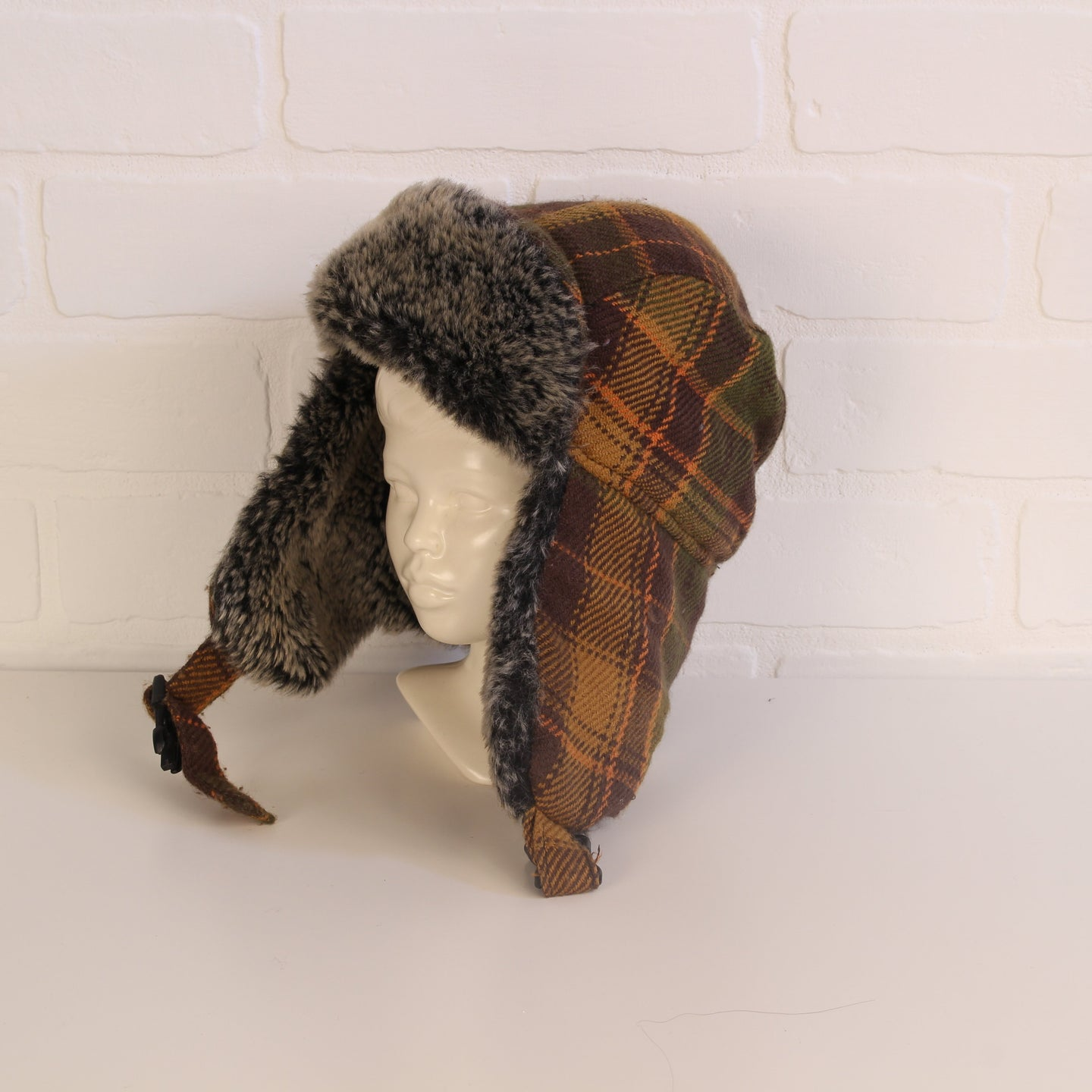 Joe Fresh Plaid Fall-Palette Trapper Hat (Size 1-3)