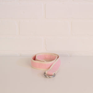 "Belt: Pink Cotton Weave Belt (25"")"