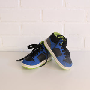 DC Shoes Blue, Black + Chartreuse High-Tops (Little Kids Shoe Size 7)