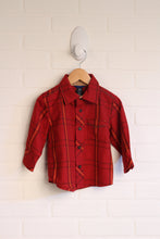 Crimson + Mustard Button-Up (Size 12-18M)