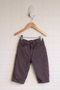 Grey Cotton-Lined Pants (Size 80/12-18M)