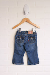 Flared Jeans with Sparkle Buttons (Size 12M)