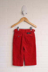 Red Wide-Leg Chunky Cords (Size 18M)