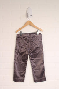 Putty Capri Pants with Satin Finish (Size 7)
