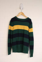 Green + School Bus Yellow Sweater (Size L/12-14)