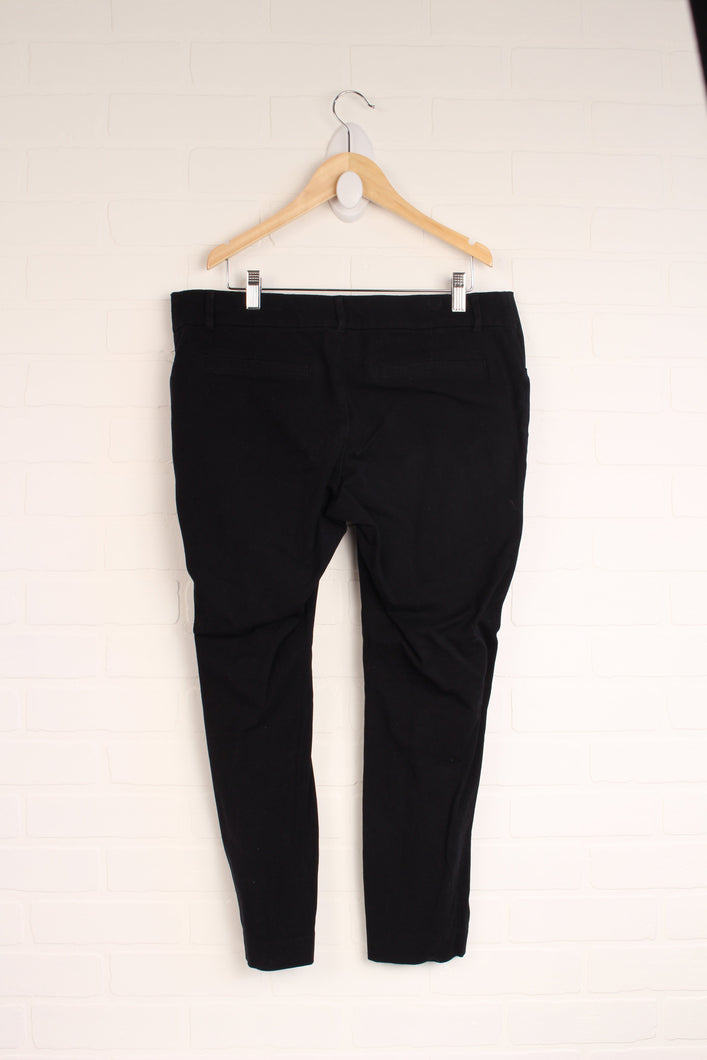 Black Maternity Pixie Pants with Side Panels (Maternity Size 10)