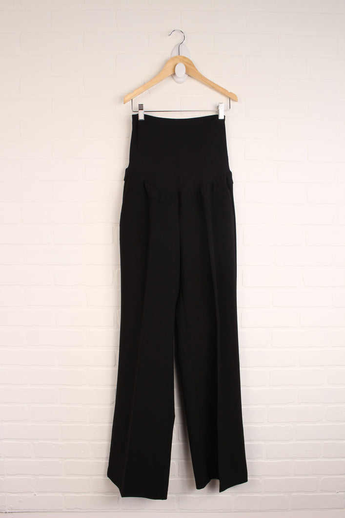 Black Full Panel Maternity Dress Pants (Maternity Size M)
