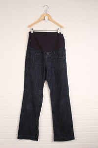 Dark Wash Full Panel Maternity Jeans (Maternity Size M)