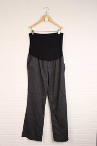 Herringbone Full Panel Maternity Pants (Maternity Size M/10)
