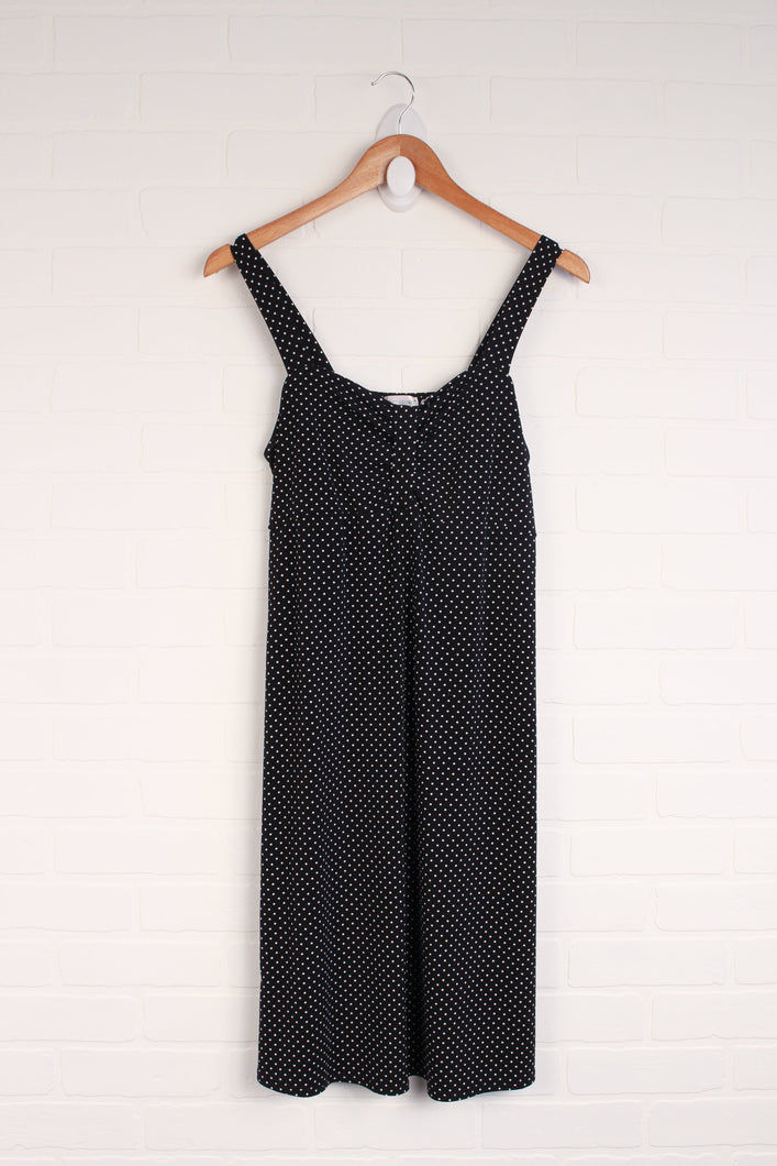 Black + White Polka Dot Stretch Sundress (Maternity Size S)