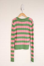 Green + PInk Striped Sweater (Maternity Size L)