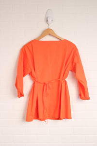 Orange Blouse (Maternity Size S)