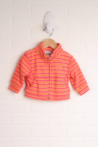 Columbia Orange + Raspberry Fleece Jacket (Size 6M)