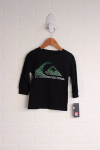 NWT Black + Lime Graphic Thermal Top (Size 12M)