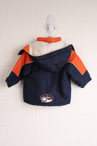 Gusti Orange + Navy Winter Coat (Size 18M)