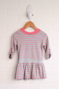 Grey + Hot Pink Tunic (Size 2Y)