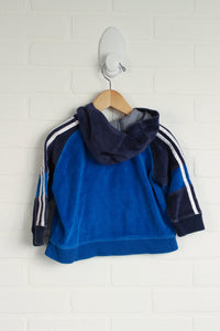 Blue Velour Hoodie (Size 12M)