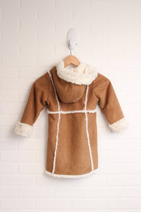 Faux Shearling Hooded Coat (Size 4T)