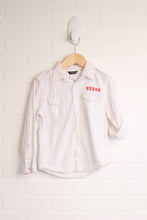 White Guess Button-Up (Size M/5-6)