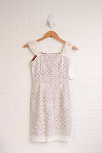 White Lace Overlay Dress with Mauve Lining (Women's Size XS)