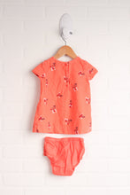 Coral Corduroy Dress with Bloomers (Size 3-6M)