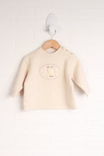 Cream Fleece Top (Size 12M)