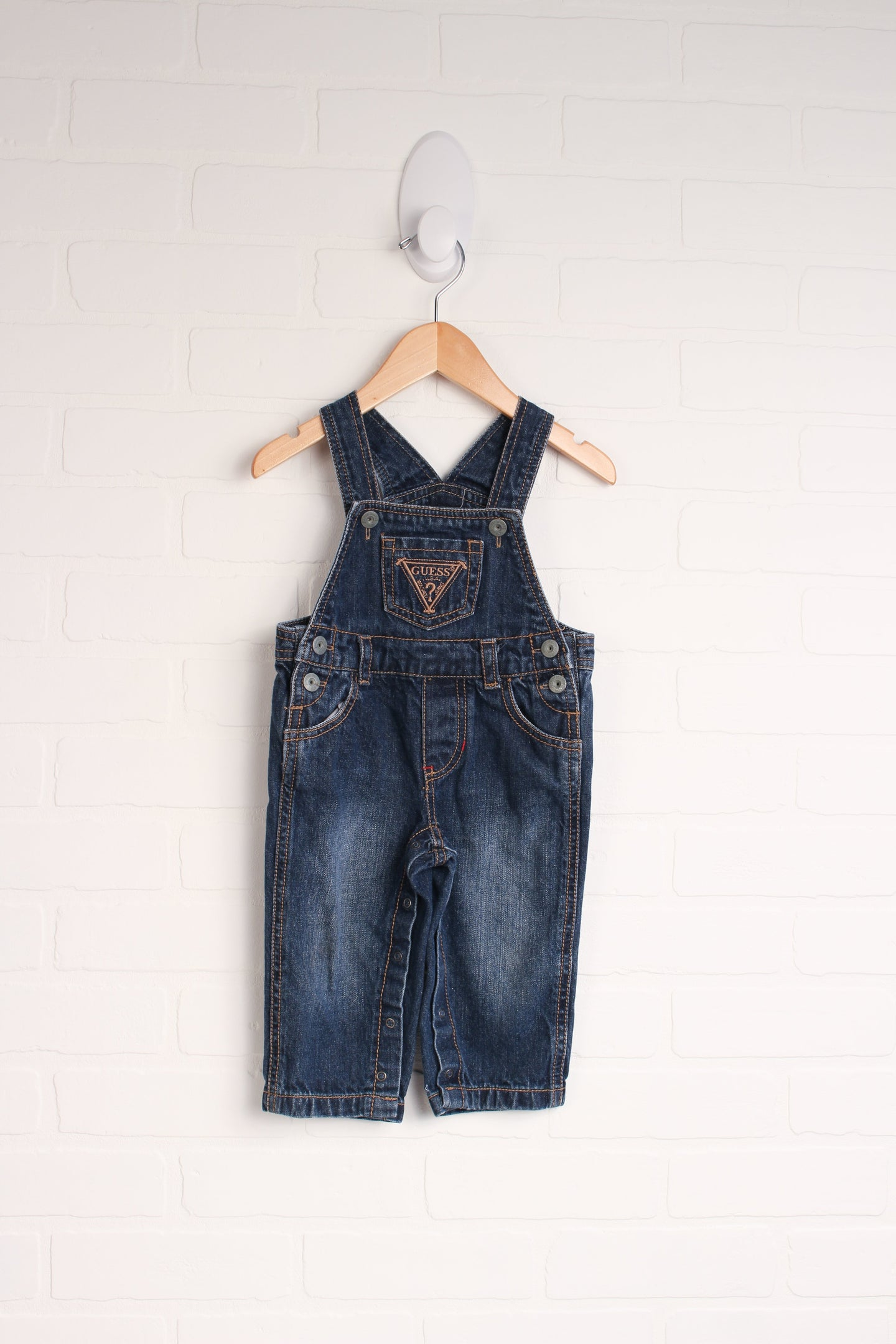 Dark Wash Overalls (Size 12M)