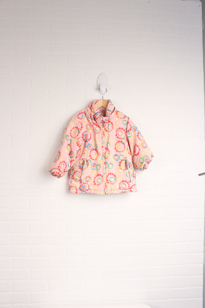 Jupa Pink + Multi Winter Coat (Size 2)
