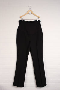 Black Full-Panel Maternity Dress Pants (Maternity Size L)