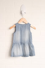 NWT Chambray Graphic Dress (Size 3-6M)