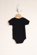 Black Graphic Onesie (Size 0-3M)