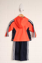 OUTFIT: Navy + Fluorescent Orange Athletic Set (Size 9M) 2 Pieces