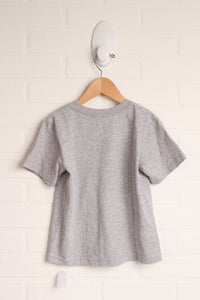 Heathered Grey Organic Graphic T-shirt (Size XXS/2-3)