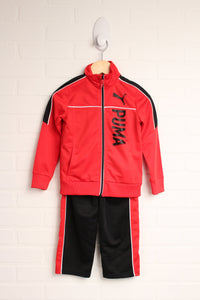OUTFIT: Black + Red Athletic Set (Size 4) 2 Pieces